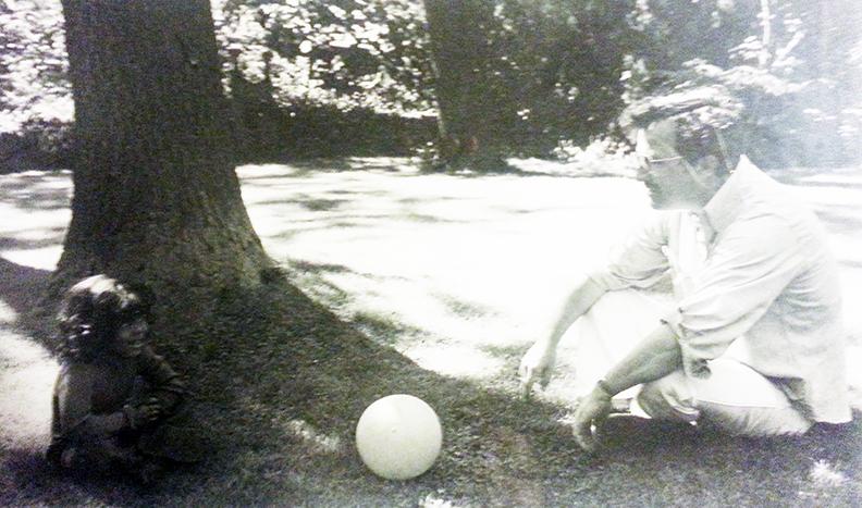 Dad, Me, Ball (circa 1979)