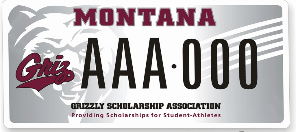 Montana Grizzlies license plate