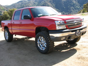 Bright Red Chevy Silverado