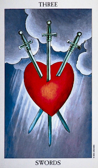 3 of Swords Radiant Rider Waite