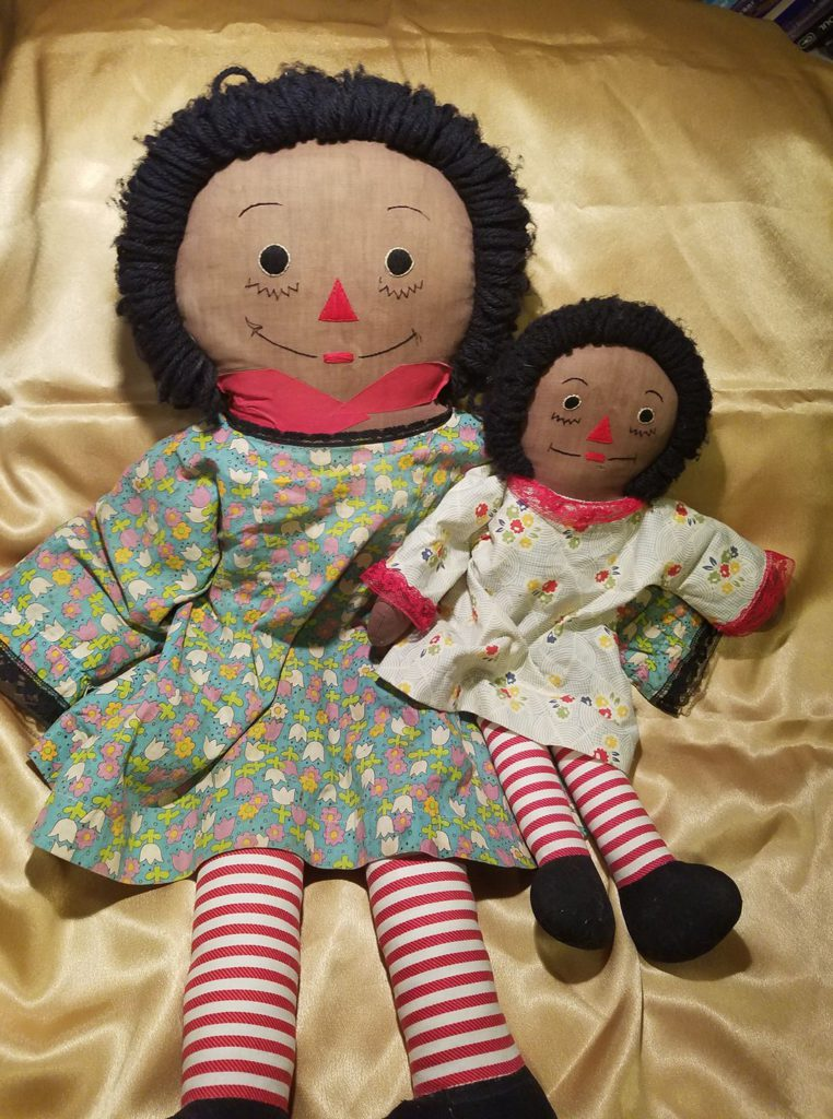 Black Raggedy Ann dolls