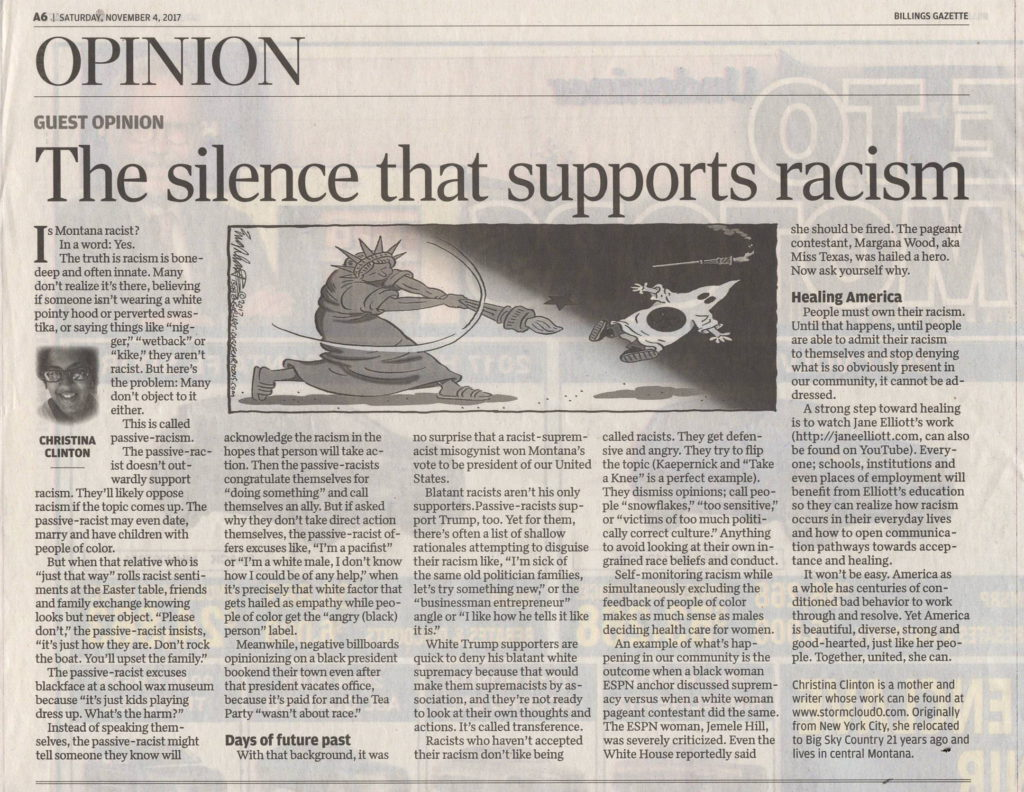 Silence Supports Racism