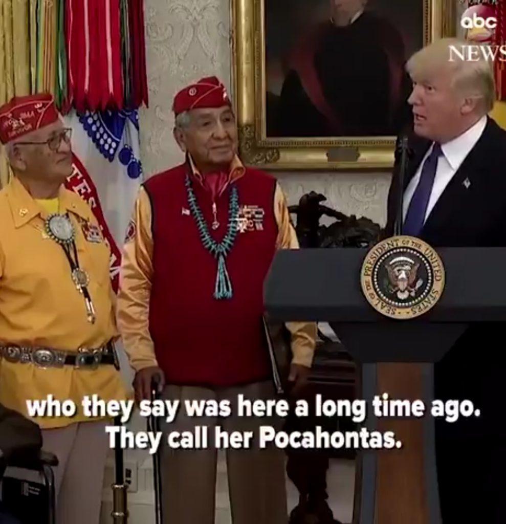 45 racist Pocahontas statement